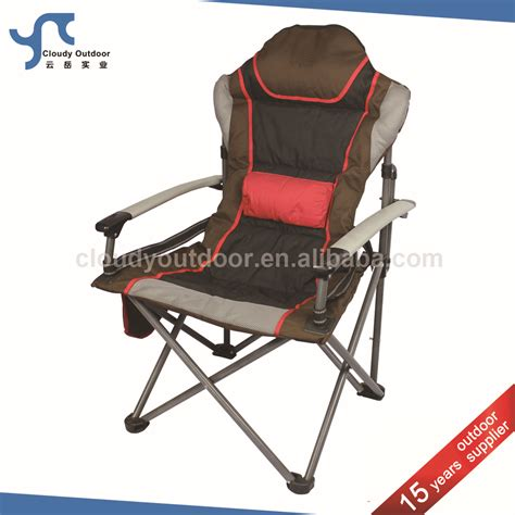 padded folding heavy duty cing chair with armrest buy