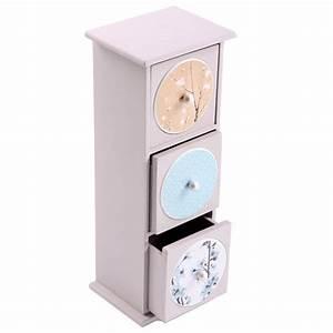 Boite A Tiroir : boite 3 tiroirs decoration fleurs ~ Teatrodelosmanantiales.com Idées de Décoration