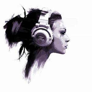 Cool drawing of girl with headphones | art | Pinterest ...