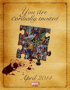 is marvel comics planning some nuptial bloodshed With modern marvel wedding invitations