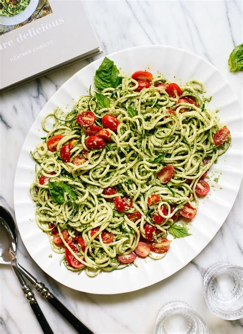 pesto zucchini noodles basil pumpkin recipe seed pasta recipes heather cherry tomatoes fresh kate cookie food noodle meal healthy cookieandkate