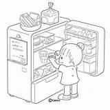 El Refrigerator Coloring Se Para Colorear Refrigerador Opening Luz Xddd Tambien Donde Yo Va Abriendo Dibujos Imagenes Nina Log Clipart sketch template