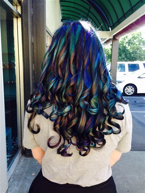 examples   oilslick hair color trend