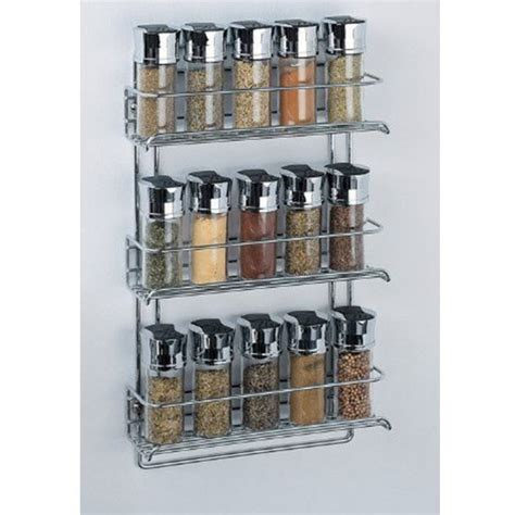Wall Mount Spice Rack With Jars by Spice Rack 3 Tier Wall Mounted Organizer Kitchen Spice