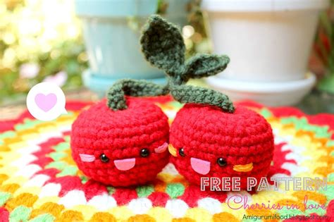 cuisine cerise amigurumi food free pattern cherries amigurumi food