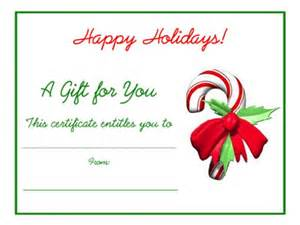 Free Printable Blank Gift Certificate Template Christmas