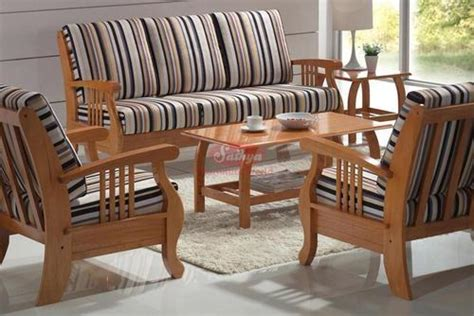 Wooden Sofa Set With Price by Brown Modern Wooden Sofa Set For Home Sathya Corporation