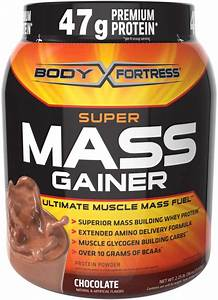 New Body Fortress Super Mass Gainer Chocolate Whey Protein Powder 2 25 Pounds