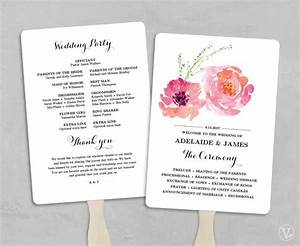 printable wedding program fan template fans diy weddi with With diy wedding invitations software