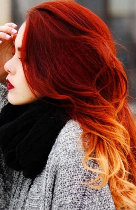 gorgeous red ombre hair ideas  fiery ladies