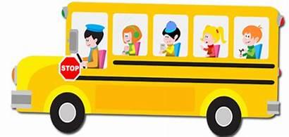Bus Clipart Cartoon Children Transportation Clip Kindergarten