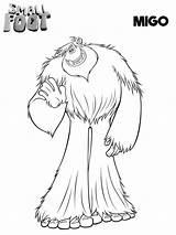 Smallfoot Coloring Pages Migo Printable Movie Yeti Compagnie Et Coloriage Print Cartoon Colorear Para Feet Birthday Scribblefun Pokemon Imprimir Imprimer sketch template