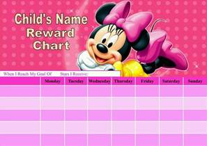 Minnie Mouse Printable Potty Training Chart
