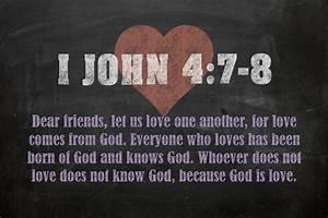 I John 4 7-8 Inspirational Quote Bible Verses On