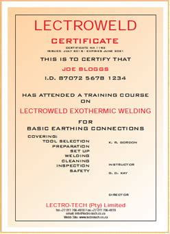 exothermic weld training