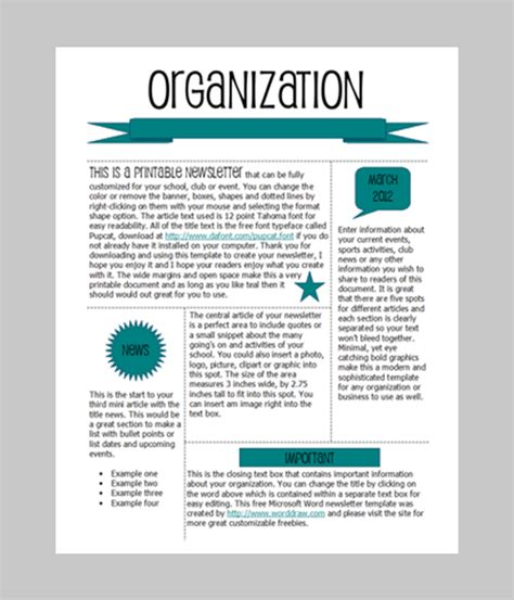 newsletter templates word 6 free newsletter word templates excel pdf formats