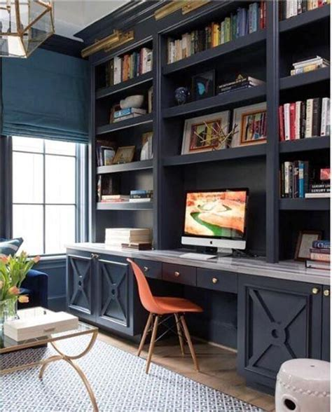Office Desk With Bookshelf by Top 50 Best Built In Desk Ideas Cool Work Space Designs