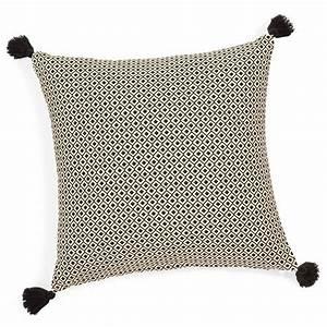 Housse de coussin à pompons en coton 40 x 40 cm ETHNIC Maisons du Monde
