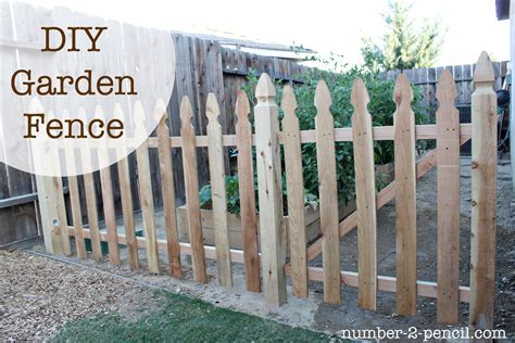 How To Build Backyard Fence by Build An Easy Diy Garden Fence No 2 Pencil