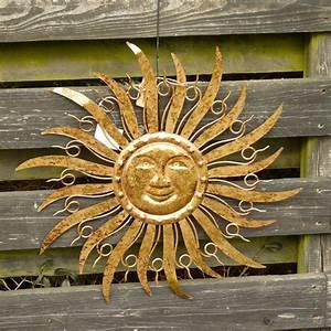 Metall Sonne Für Hauswand : sonne metall braun gold wanddekoration wandbild gartendeko 48 cm ebay ~ Markanthonyermac.com Haus und Dekorationen