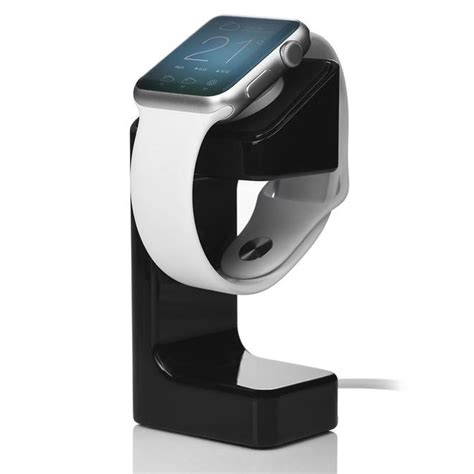 apple  wireless charging dock stand black