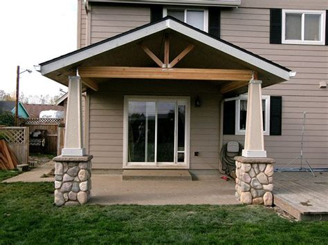 open gable patio cover with post bases http