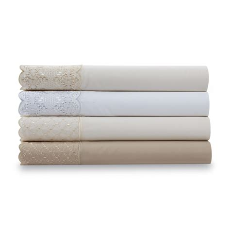 cannon embroidered lace sheet home bed bath