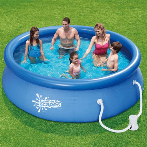 "Summer Escapes 10' X 30"" Above Ground Swimming Pool Just $48"