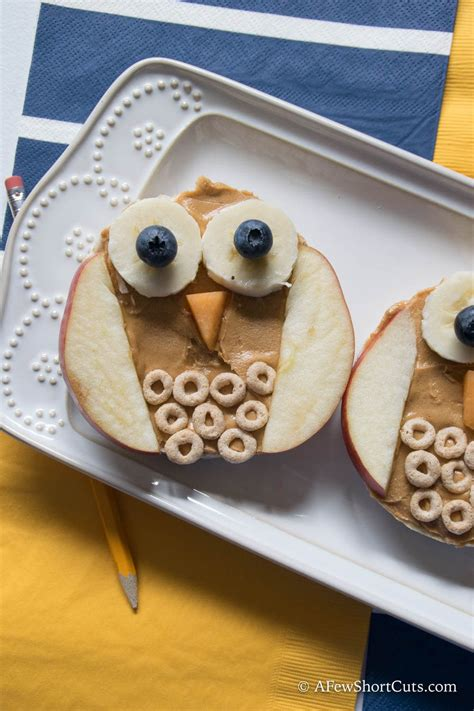 owl rice cake snacks recipe preschool cooking class