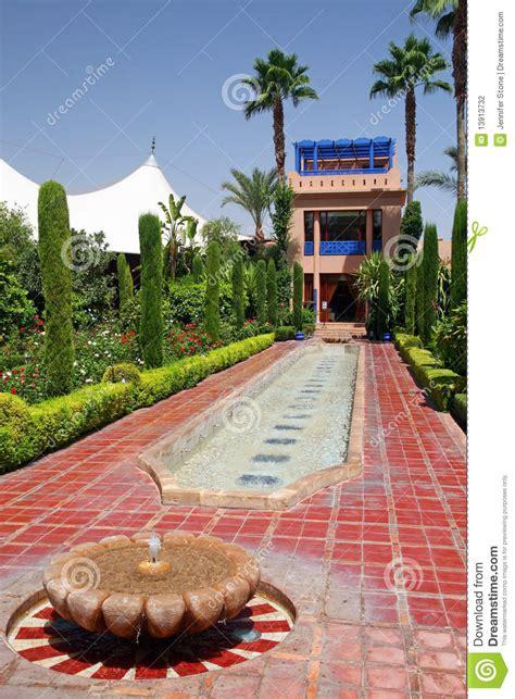moroccan garden stock photography image