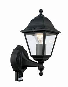Lampe Mit Bewegungsmelder Außen : aussenleuchte mit bewegungsmelder aussenlampe schwarz eglo 31317 ebay ~ Frokenaadalensverden.com Haus und Dekorationen