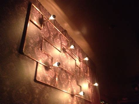 copper pipe wall lights deco