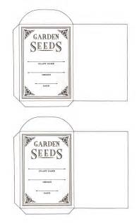 blank seed packets flowers and a seed packet pattern content in a cottage