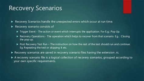 Difference Between Recovery Scenario And On Error Resume Next In Qtp by Uft Basics