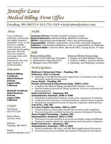 Billing And Coding Resume by Lowe Resume Billing Resume Career Billing Exles