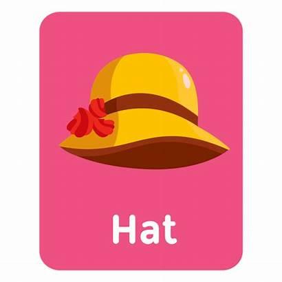 Flashcard Vocabulario Hat Sombrero Vocabulary Vexels Flash