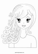 Coloring Pages Hair Spa Manga Hairstyles Curly Printable Themed Haircuts Sheets Pretty Wordpress Pippi Blank Canvas Birthday Let Create Neo sketch template