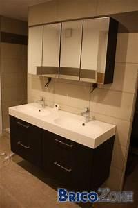 Meuble Salle De Bain Double Vasque 100 Cm : meuble salle de bain double vasque 120 cm ikea ~ Teatrodelosmanantiales.com Idées de Décoration