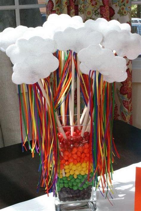 diy rainbow party decorating ideas  kids hative