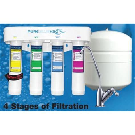 Pure Blue H2o. 4 Stage Ro Water Filtration System   Buy