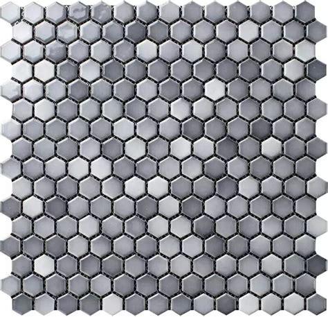 blue backsplash kitchen shades of gray 3 4 quot hexagon porcelain mosaic tile
