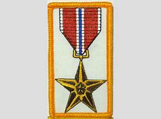 BRONZE STAR Medal Embroidered IronOn Patch US ARMY Emblem