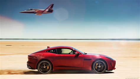 Jaguar F Type, Car, Jet, Desert Wallpapers Hd / Desktop