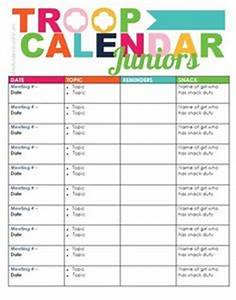 girl scout juniors on pinterest girl scout juniors With girl scout calendar template