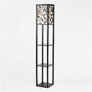 Floral shelf floor lamp eclectic floor lamps by for Kirklands floor lamp with shelves