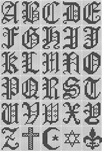 My Alphabet Chart Ravelry Filet Crochet Alphabet Script Chart Pattern By