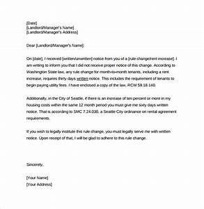 rent increase letter 8 download free documents in pdf word With letter to increase rent template