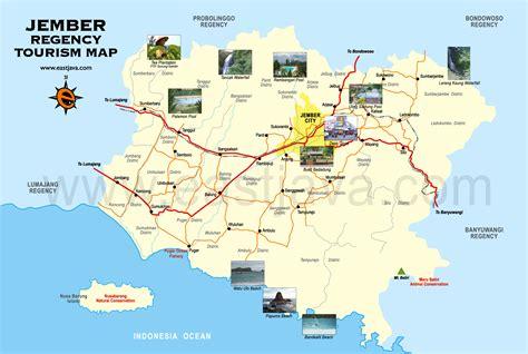 jember tourism map peta wisata jember