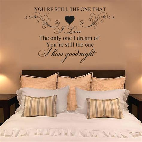Master Bedroom Wall Decals Quotes by Details About Shania You Re Still The One I
