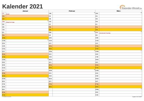 Es ist ein druckfertiges pdf mit 12 seiten im format 21 x 42 cm, 6 spaltig. Kalender 2021 Zum Ausdrucken Kostenlos